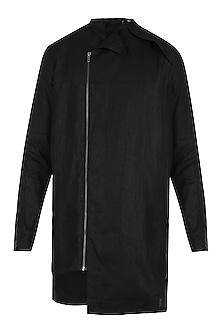 Black linen shacket by Son Of A Noble SNOB