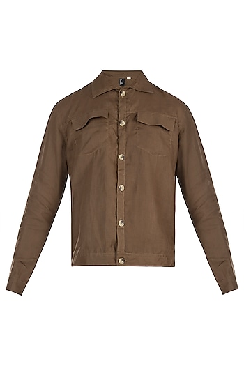 Brown denim jacket by Son Of A Noble SNOB