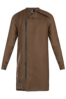Brown linen shacket by Son Of A Noble SNOB
