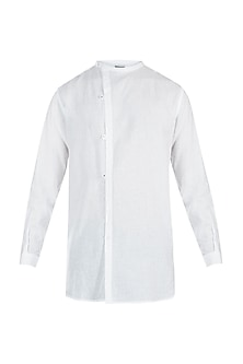 White high low kurta by Son Of A Noble SNOB