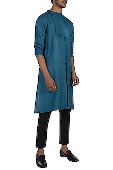 Moroccan blue kurta with pyjama pants by Son Of A Noble SNOB