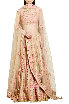 Gold Embroidered Lehenga Set by Shyam Narayan Prasad