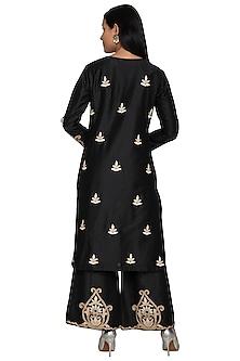 Black Gota Embroidered Kurta Set by Sonali Gupta
