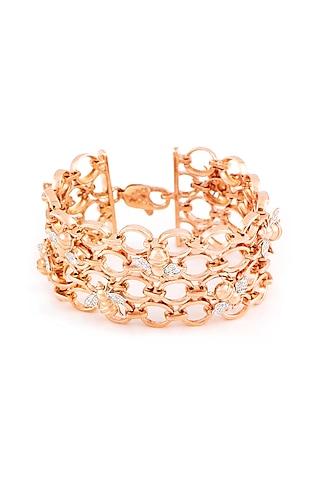 Rose Gold Finish Queen Bee Bracelet by Solasta Jewellery