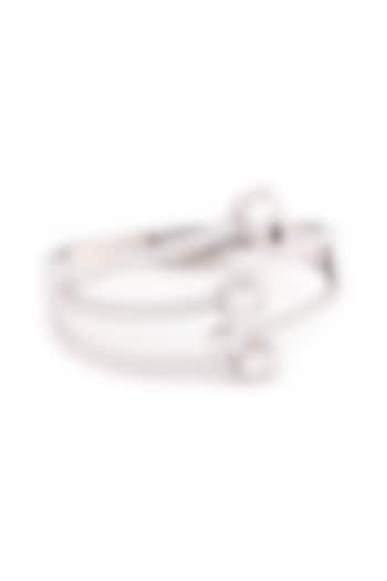 White Finish Swarovski Hooked Bracelet by Solasta Jewellery