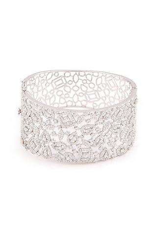 White Finish Swarovski Classic Bracelet by Solasta Jewellery