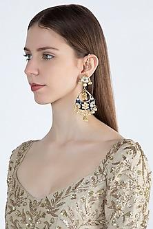 Gold Plated Meenakari Kundan Earrings by Soranam