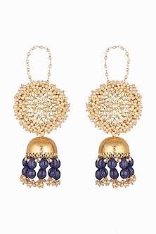 Gold Plated Semi-Precious Stone Earrings by Soranam