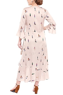 Ivory Printed Maxi Dress by SOUS