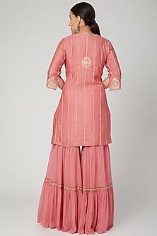 Blush Pink Embroidered Sharara Set by SOZENKARI