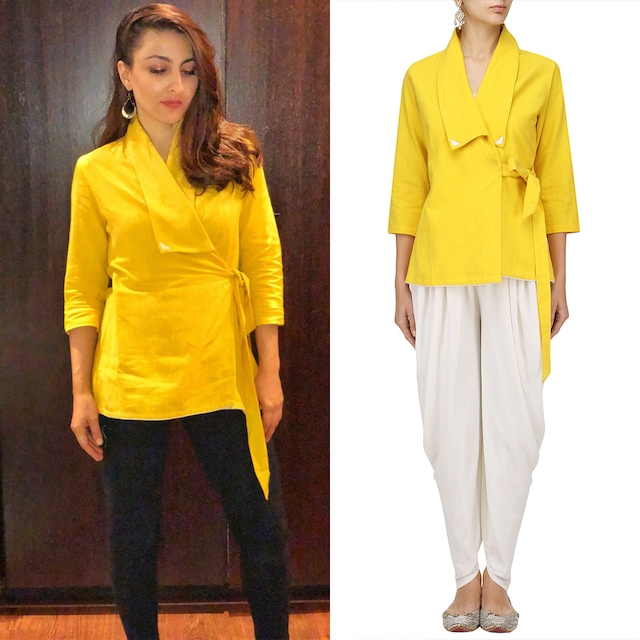 Yellow Rappu Top by The Burnt Soul