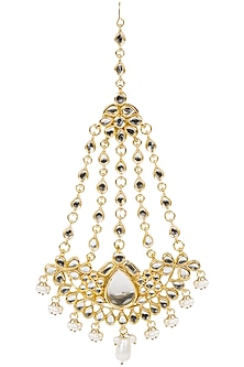 Gold Finish Kundan Stone and Pearl Passa by Soranam