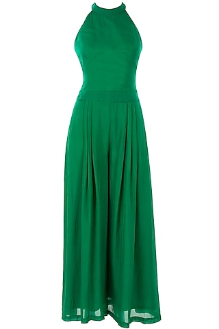 Emerald green jumpsuit by Sonaakshi Raaj