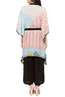 Multi Colored Tunic With Tie-Up Belt by Sous