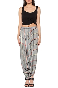 Grey Printed Dhoti Pants by Sous