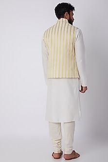 White Striped Bundi Jacket by SPRING BREAK