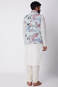 Sky Blue Tropical Printed Jacket by SPRING BREAK