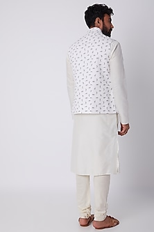 White Bundi Jacket With Print by SPRING BREAK