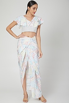 Multi Colored Ruffled Skirt Set by Simply Simone