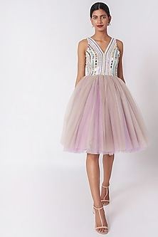 Multi Colored Embellished Dress by SImply Simone