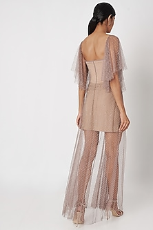 Dusty Nude Corset Gown by SImply Simone