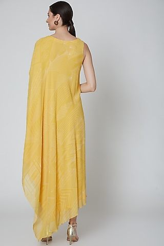 Yellow Embellished Maxi Dress by Radical