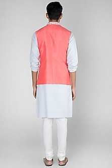 Coral Embroidered Bundi Jacket by SEIRRA THAKUR