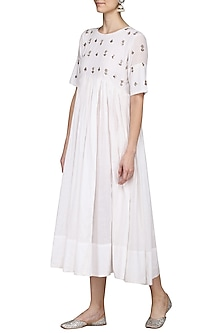 White Embroidered Dress by Sareeka H & Mukkta Dograa