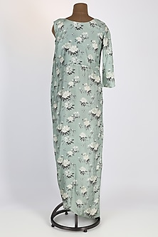 Pastel Green Silk Gown by 17:17