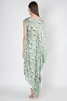 Pastel Green Printed & Embroidered Kurta by 17:17