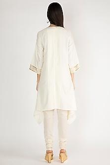 Off White Gota Embellished Tunic by Gulabo By Abu Sandeep