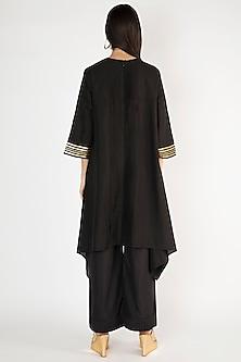 Black Gota Embellished Tunic by Gulabo By Abu Sandeep