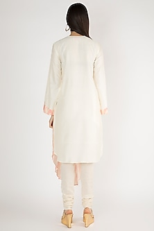 Off White Pre-Pleated Printed Tunic by Gulabo By Abu Sandeep
