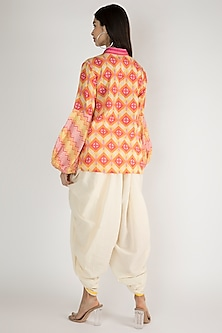 Yellow Geometric Printed Shirt by Gulabo By Abu Sandeep