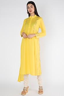 Yellow Gota Embellished Kurta by Gulabo By Abu Sandeep