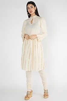 Off White Embroidered Tunic by Gulabo By Abu Sandeep