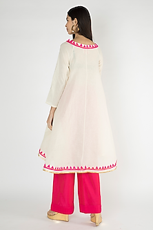 Off White Embroidered Kora Cotton Tunic by Gulabo By Abu Sandeep
