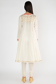 Off White Kora Cotton Kurta by Gulabo By Abu Sandeep