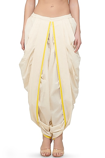 Off White Dhoti Pants by Gulabo By Abu Sandeep