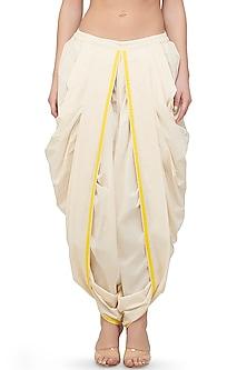 Off White Dhoti Pants by Gulabo By Abu Sandeep