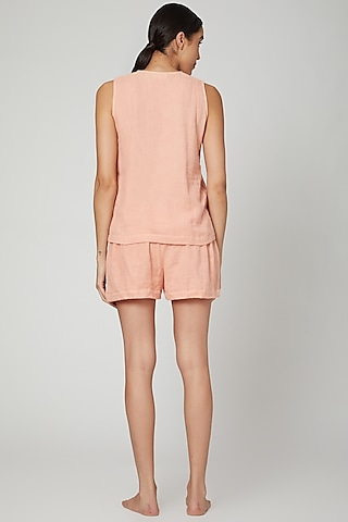 Blush Pink Top With Shorts by Stitch