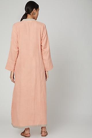 Blush Pink Dyed Kaftan by Stitch