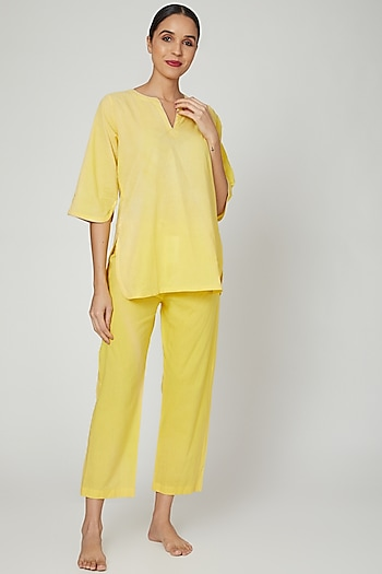 Yellow Top With Pajama by Stitch