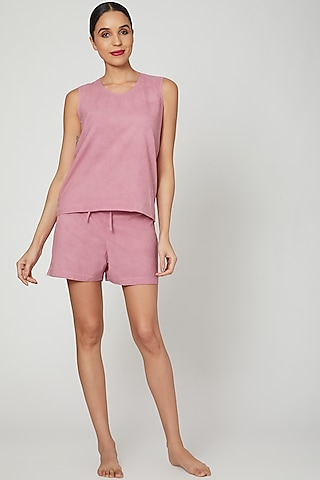 Mauve Top With Shorts by Stitch
