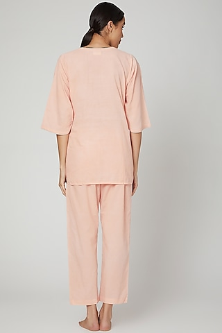 Blush Pink Top With Pajama Pants by Stitch