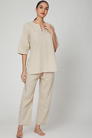 Grey Top With Pajama Pants by Stitch