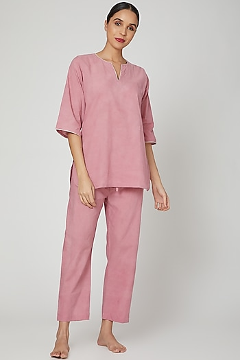 Mauve Top With Pajama Pants by Stitch