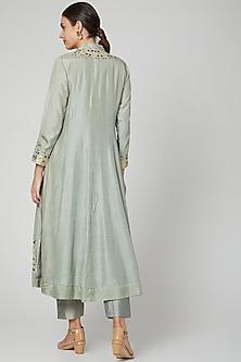 Grey Embroidered Anarkali Set by Sunita Nagi