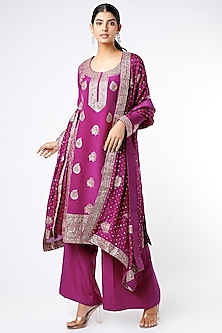 Purple Embellished Kurta Set by Stotram-POPULAR PRODUCTS AT STORE