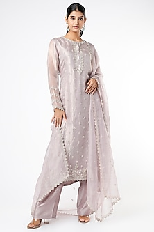Blush Pink Hand Embroidered Kurta Set by Stotram-POPULAR PRODUCTS AT STORE